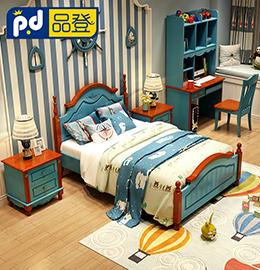 品登美式风格儿童床图片