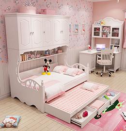 榻榻米衣柜儿童床图片