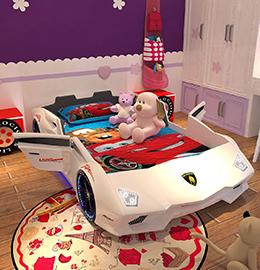 赛车儿童床图片